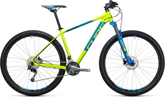 CUBE AIM SL 2017 GENTS MTB IN KIWI N BLUE
