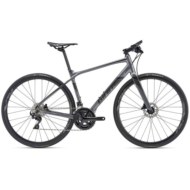 2019 Giant FastRoad SL 0 Mens Flat bar Road bike in Grey